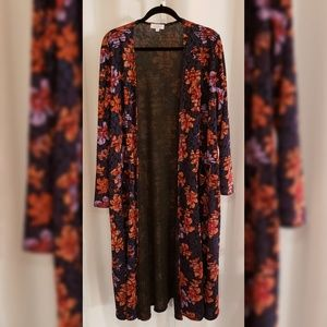 LulaRoe Multi-color floral duster sz XL